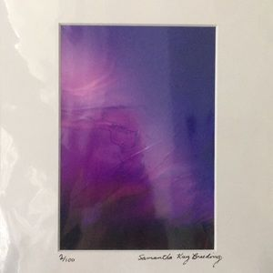 Purple Pink Abstract Photograph Signed & Numbered